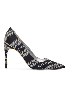 Givenchy Navy and White Chain M Heels