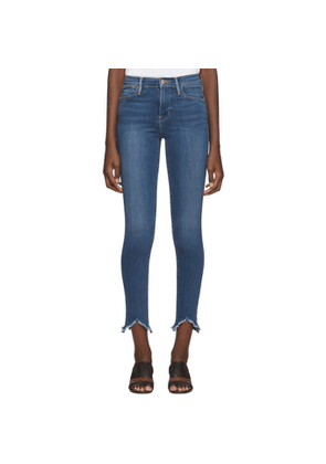 Frame Blue Le High Skinny Triangle Hem Jeans