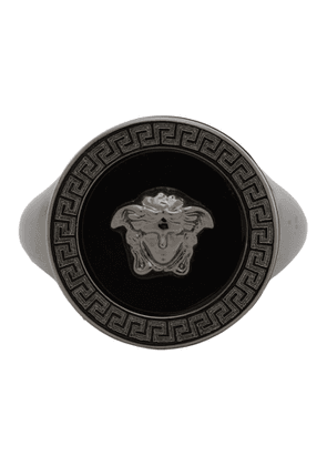 Versace SSENSE Exclusive Black Medusa Icon Ring