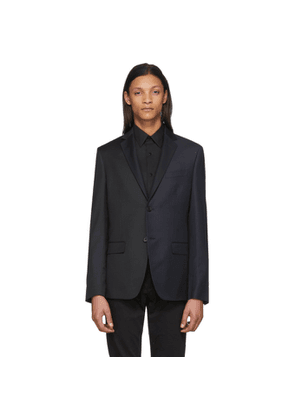 Fendi Navy and Black Bicolor Pinstripe Blazer