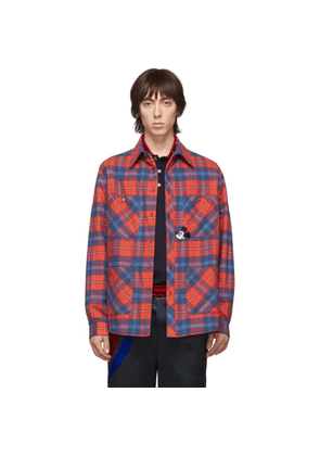 Gucci Red and Blue Disney Edition Check Jacket
