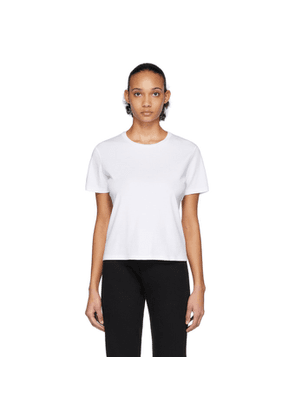 John Elliott White High Twist Cotton Classic T-Shirt