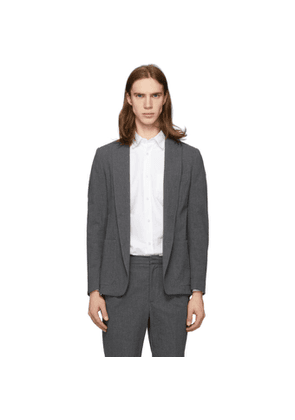 Officine Generale Grey Seersucker Lightest Blazer