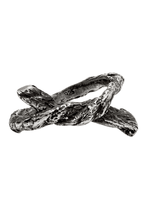 Ann Demeulemeester Silver Single Rope Ring