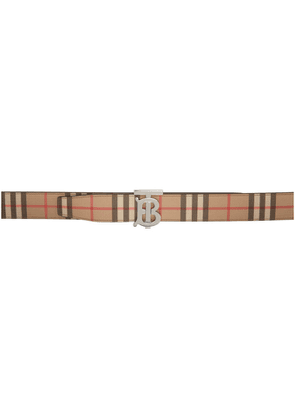 Burberry Reversible Beige E-Canvas Monogram Belt