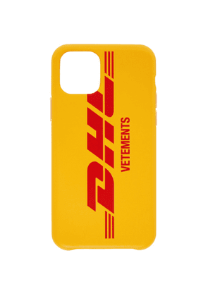 VETEMENTS Yellow DHL Express Edition iPhone 11 Pro Case