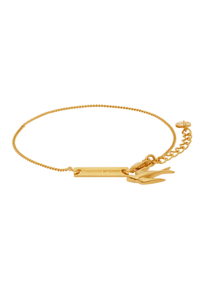 McQ Alexander McQueen Gold Swallows Bracelet