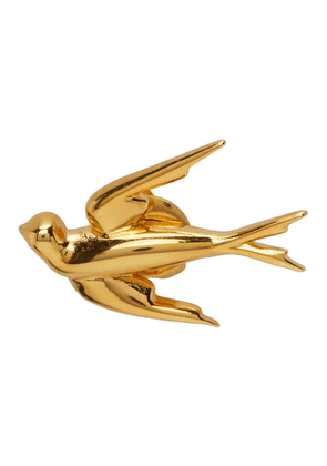 McQ Alexander McQueen Gold Swallows Earrings