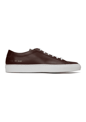 Common Projects Burgundy Achilles Low Sneakers