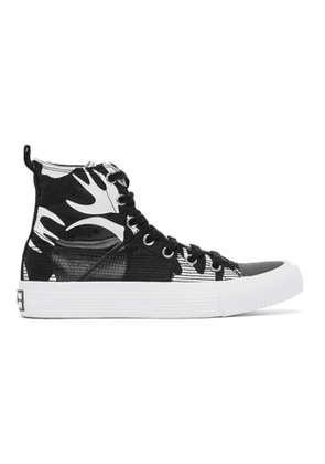 McQ Alexander McQueen Black and White Plimsoll High Top Sneakers