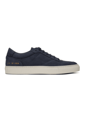 Common Projects Navy Nubuck Resort Classic Sneakers