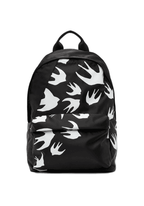 McQ Alexander McQueen Black Classic Swallows Backpack