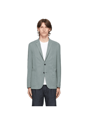 Z Zegna Blue Two-Button Blazer