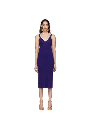 Haider Ackermann Blue Midi Camisole Dress