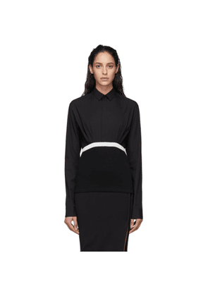 Haider Ackermann Black Elasticized Shirt