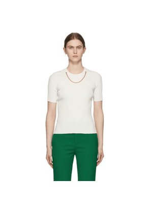 Givenchy White Chain Short Sleeve Sweater