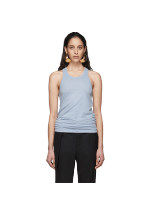 Haider Ackermann Blue Jersey Tank Top