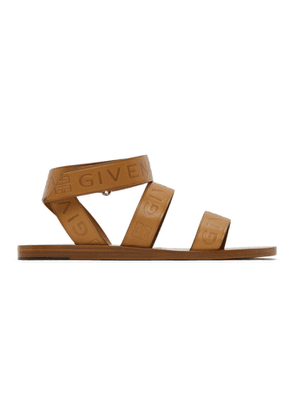 Givenchy Brown Logo Ankle Strap Sandals