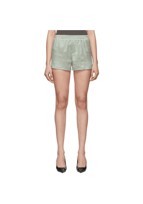 Haider Ackermann Grey Silk Shorts