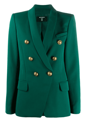 Balmain fitted double-breasted blazer - Green