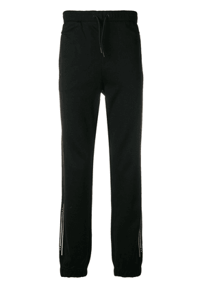 BOSS metallic embroidered track pants - Black