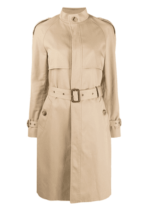 Saint Laurent single-breasted trench coat - Neutrals