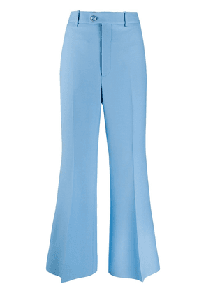 Gucci flared tailored trousers - Blue