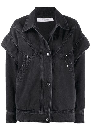 IRO long-sleeved layered denim jacket - Black