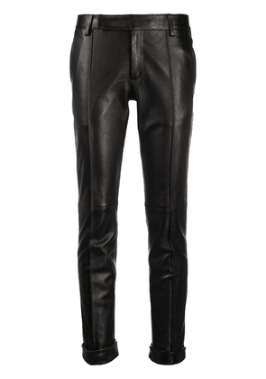 Golden Goose slim-fit leather trousers - Black