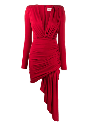 Alexandre Vauthier ruched mini dress - Red