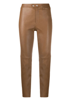 Isabel Marant high-waisted slim-fit trousers - Brown