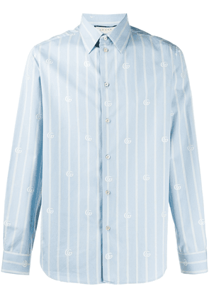 Gucci bee striped shirt - Blue