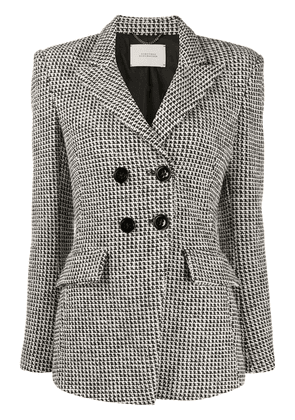 Dorothee Schumacher houndstooth check double-breasted blazer - White