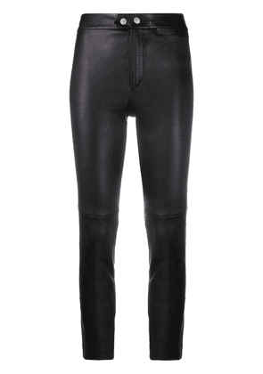 Isabel Marant high-waisted slim-fit trousers - Black