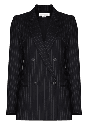 Victoria Beckham pinstripe pattern double-breasted blazer jacket -