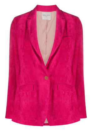 Forte Forte ribbed single breasted blazer - PINK