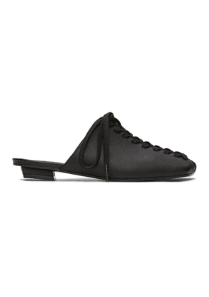 Flat Apartment Black Lace-Up Loafers