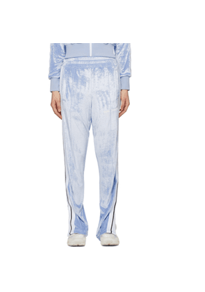 Palm Angels Blue Chenille Lounge Pants