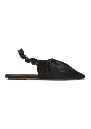 Nanushka Black Zuo Slippers