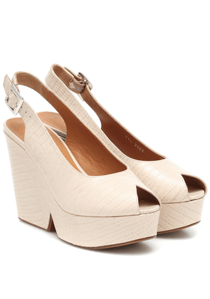 Exclusive to Mytheresa – Dylan lizard-effect leather sandals
