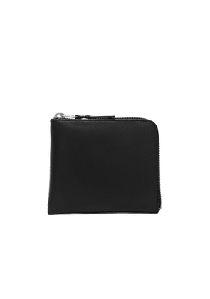 Comme Des Garcons Small Zip Wallet in Black - Black. Size all.