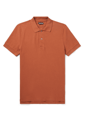 TOM FORD - Slim-Fit Cotton-Piqué Polo Shirt - Men - Red