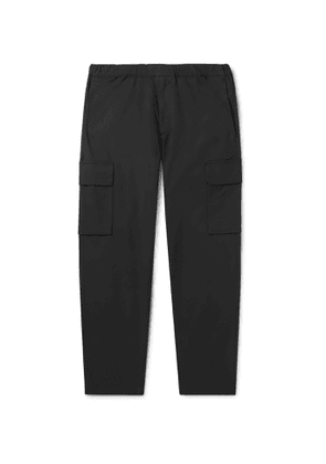 Theory - Wilmar Tapered Cotton-Blend Cargo Trousers - Men - Gray