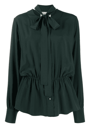 LANVIN pussy bow blouse - Green