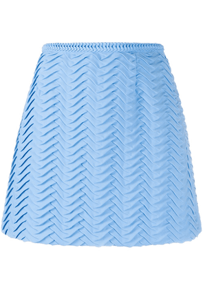 Marco De Vincenzo textured A-line skirt - Blue