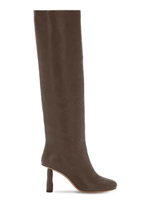 80mm Leather Tall Boots