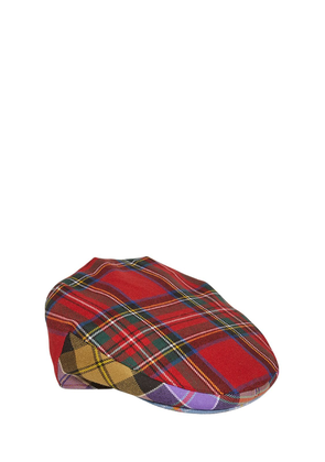 Check Patchwork Wool Cap