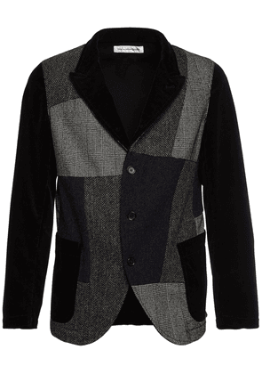 Patchwork Cotton & Wool Jacket
