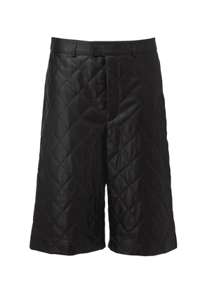 Ossi Quilted Leather Bermuda Shorts