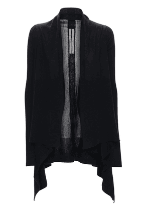 Sheer Wool Rib Knit Cardigan